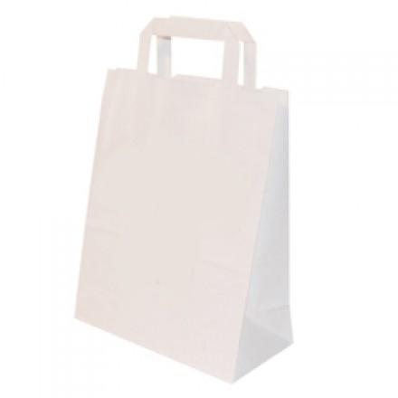papiert ten wei papiertaschen wei mit flachhenkeln. Black Bedroom Furniture Sets. Home Design Ideas