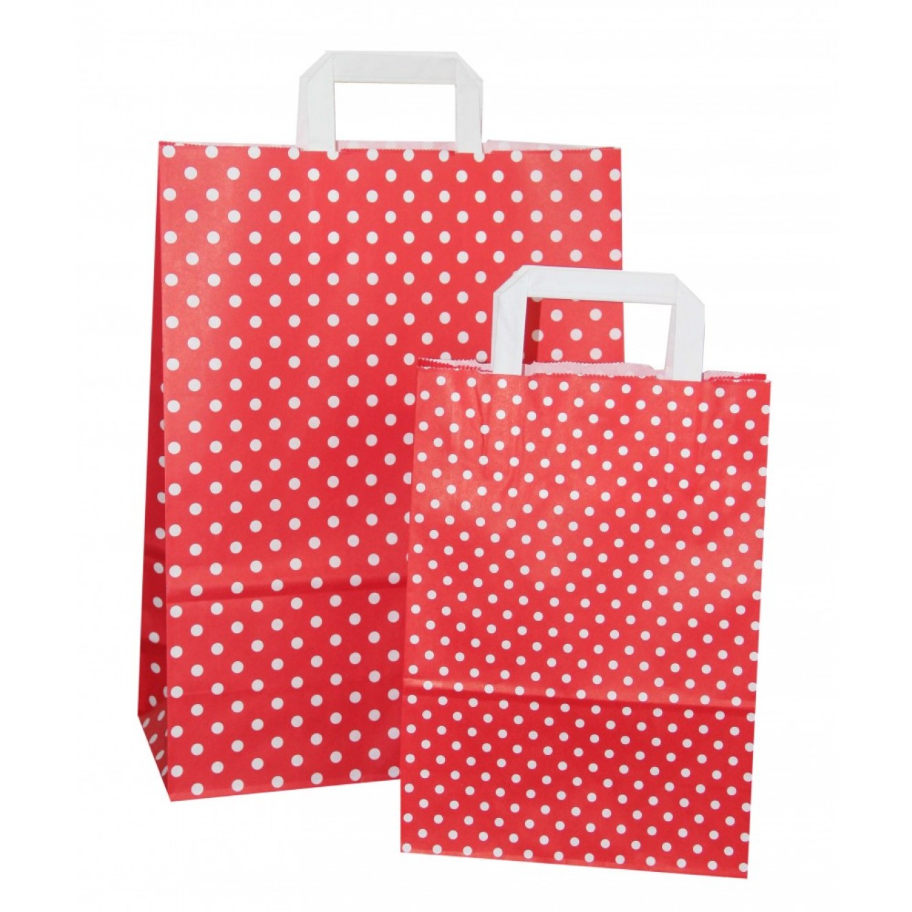 Rote Sitzsaecke In Schwarz Weissem : Rote papiert?ten wei?en punkten und flachen papiergriffen
